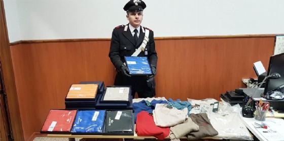 La merce sequestrata dai carabinieri