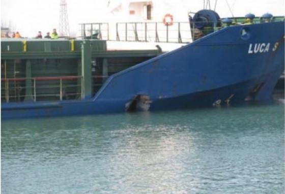 Collisione tra due navi nel porto di San Giorgio di Nogaro