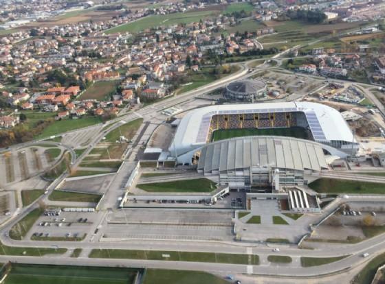 Si lavora per migliorare la sicurezza attorno allo stadio (© Diario di Udine)