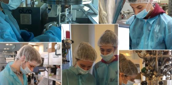 I piccoli chimici dell'Istituto Malignani impegnati in un nuovo progetto (© Istituto Malignani)