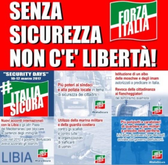 Le richieste di Forza Italia per una maggiore sicurezza