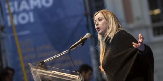 La leader di FdI, Giorgia Meloni.