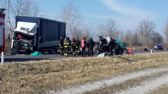 L'incidente sulla Cimpello-Sequals (© Diario di Udine)