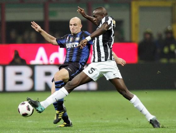 Un'immagine di quel Inter-Juve al termine del quale si scatenò la rabbia bianconera negli spogliatoi di San Siro