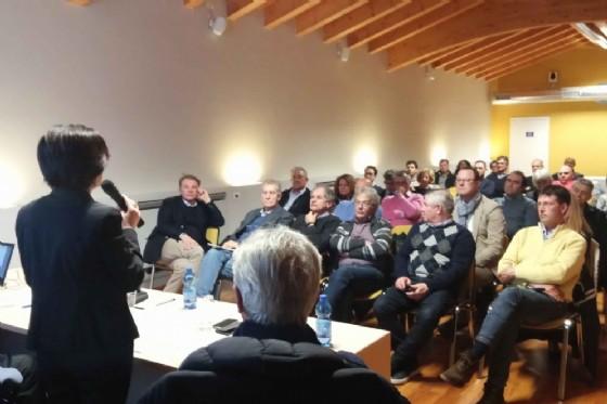 Sara Vito (Assessore regionale Ambiente ed Energia) all'incontro con rappresentanti di Comuni, di Coldiretti e della Kmecka zveza/Associazione agricoltori (© Regione Friuli Venezia Giulia)