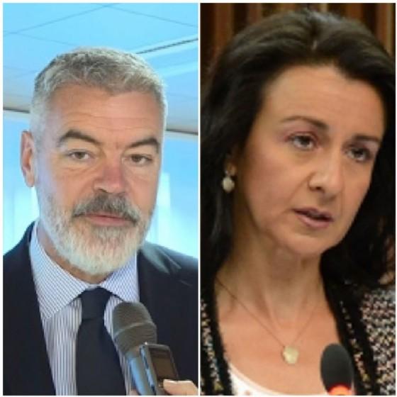 A destra la consigliera Piccin, Forza Italia, commenta la riforma presentata dall'assessore Panontin e approvata dal Consiglio regionale