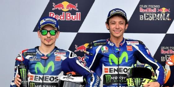 Jorge Lorenzo e Valentino Rossi da compagni di squadra alla Yamaha (© Michelin)