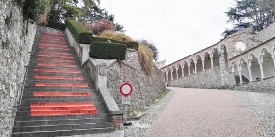 La salita del Castello nel giorno di TEDxUdine (© Diario di Udine)