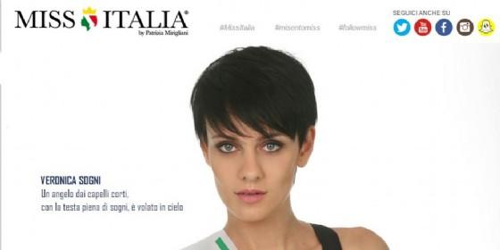 L'omaggio a Veronica Sogni da parte dell'organizzazione di Miss Italia (© Miss Italia official website)
