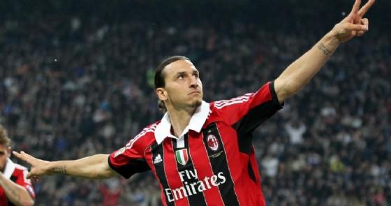L'attaccante svedese ai tempi della sua permanenza al Milan