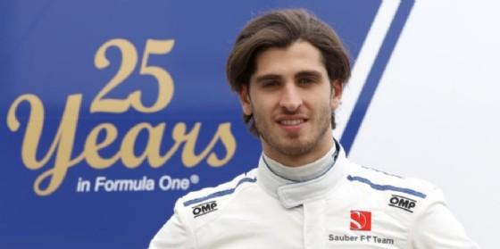 Antonio Giovinazzi ai test pre-campionato di Barcellona (© Sauber)