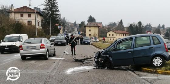 L'incidente  sulla SS13 (© Diario di Udine)