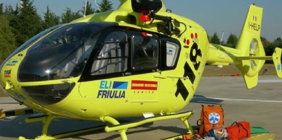 Intervento dell'elisoccorso a Fiumicello (© Diario di Udine)