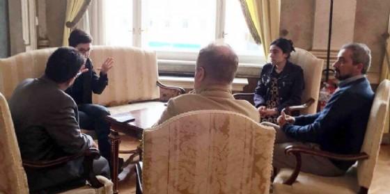 Lamya Aji Basha in visita a Trieste (© Regione Friuli Venezia Giulia)