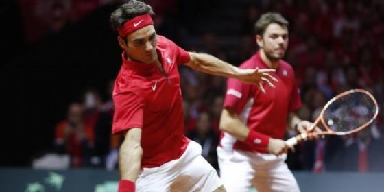 Roger Federer e Stanislas Wawrinka (© ANSA)