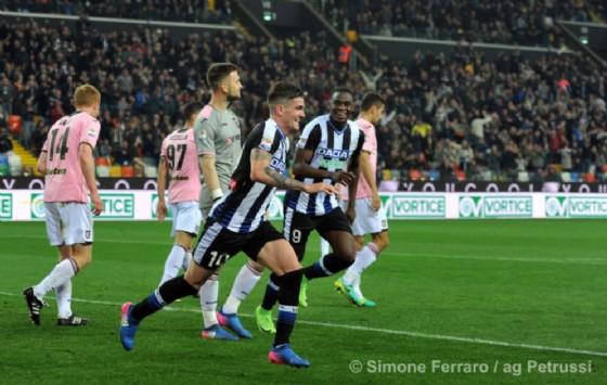 La gioia di De Paul dopo il gol (© Ferraro)