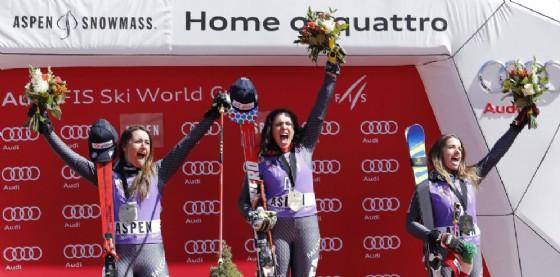 Brignone, Goggia e Bassino: è tris azzurro nel gigante di Aspen
