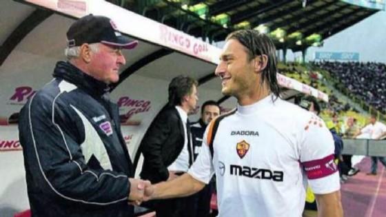 Carletto Mazzone e Francesco Totti ai tempi della Roma (© ANSA)
