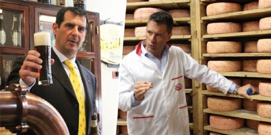 Franco Thedy,  Ad di Birra Menabrea e Andrea Bonino, Ad di Botalla formaggi (© Diario di Biella)
