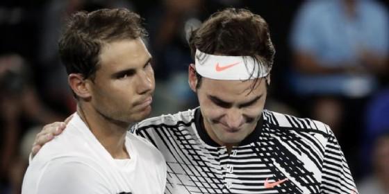 Rafa Nadal e Roger Federer (© ANSA)