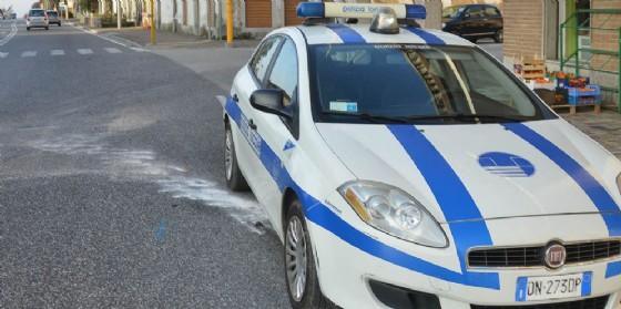 Intervento della Polizia locale per un incidente (© Diario di Udine)