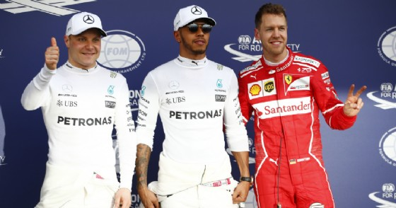 Sebastian Vettel ritrova la prima fila: