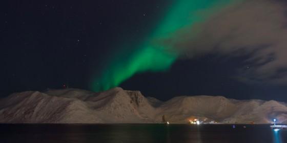 L'aurora boreale a Honningsvåg (© Pegoraro)