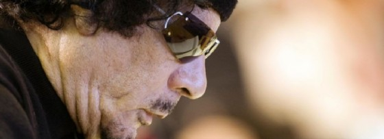 Il colonnello Muammar Gheddafi.