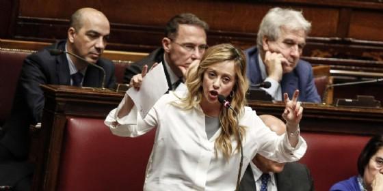 La leader di FdI, Giorgia Meloni