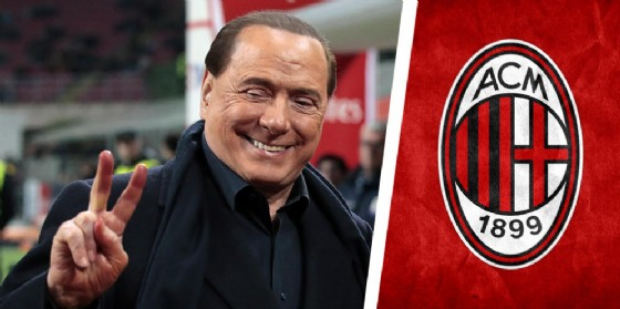 Il presidente del Milan Silvio Berlusconi