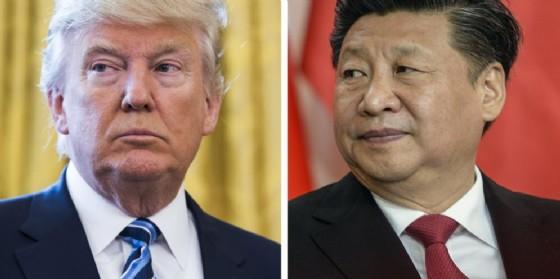 Il presidente Usa Donald Trump e il suo omologo cinese Xi Jinping.