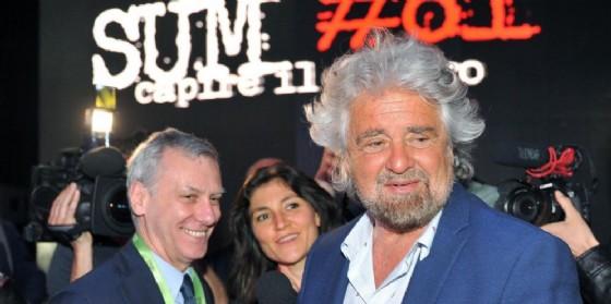 Beppe Grillo alla kermesse di Davide Casaleggio a Ivrea.
