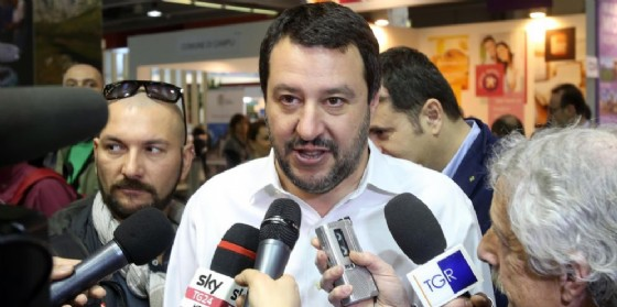 Il leader della Lega Matteo Salvini. (© ANSA / MATTEO BAZZI)