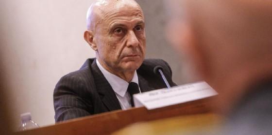 Il ministro dell'Interno Marco Minniti. (© ANSA/GIUSEPPE LAMI)
