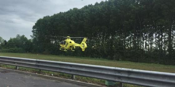 L'elisoccorso è intervenuto a Latisana (© Diario di Udine)