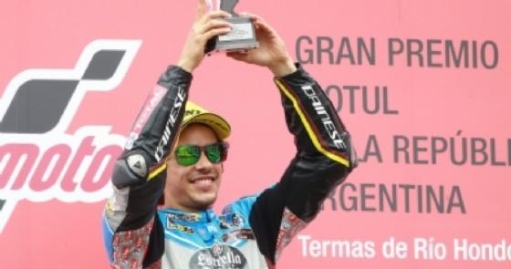 Franco Morbidelli sul gradino più alto del podio in Argentina