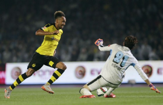 L'attaccante gabonese Aubameyang