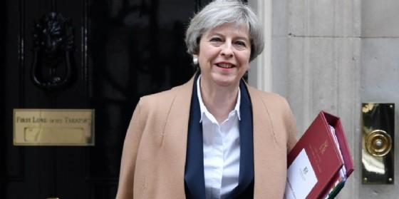La premier inglese, Theresa May. (© ANSA/ PA ANDYRAIN)