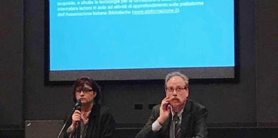 Gianni Torrenti alla presentazione del corso di formazione per operatori delle biblioteche pubbliche del Fvg