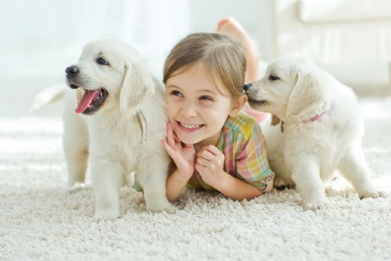 Avere un animale domestico in casa pare faccia bene ai bambini