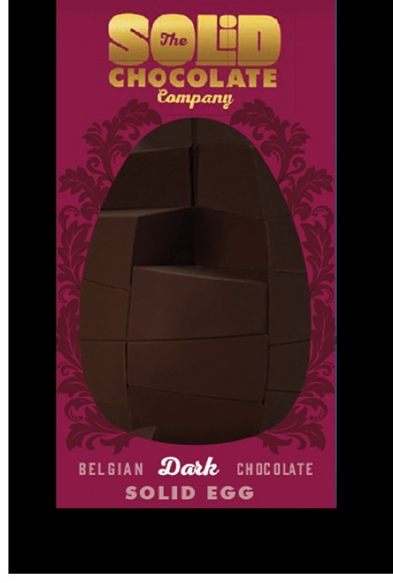 Uovo fondente della The Solid Chocolate Company