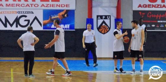 L'allenamento di giovedì sera (© Diario di Udine)