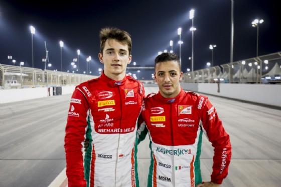 Charles Leclerc e Antonio Fuoco, primo e secondo in qualifica in Bahrein