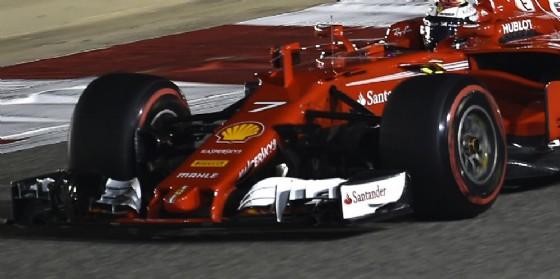 L'ala anteriore sulla SF70 di Kimi Raikkonen in azione