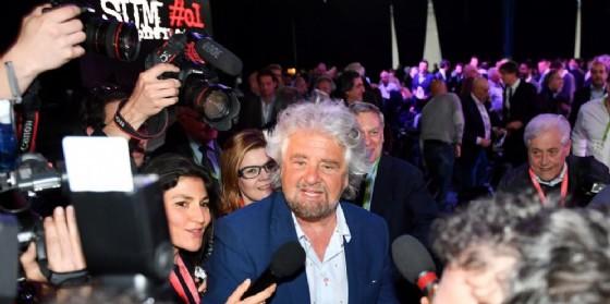 Il leader del M5S, Beppe Grillo. (© ANSA/ ANTONINO DI MARCO)