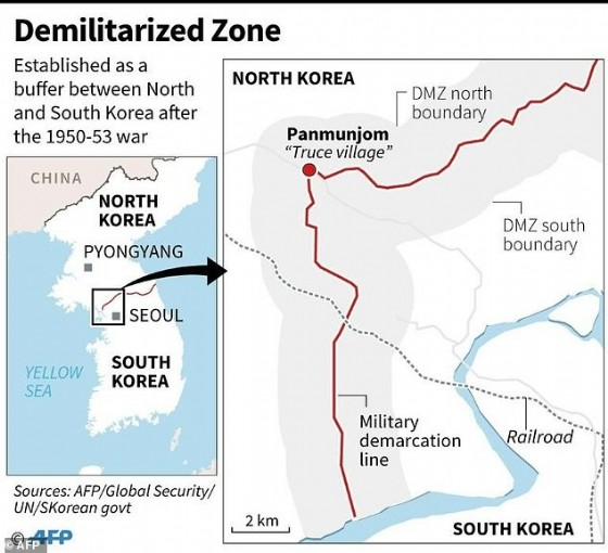 The DMZ was established as a buffer in the wake of the 1950 - 1953 war between North and South Korea