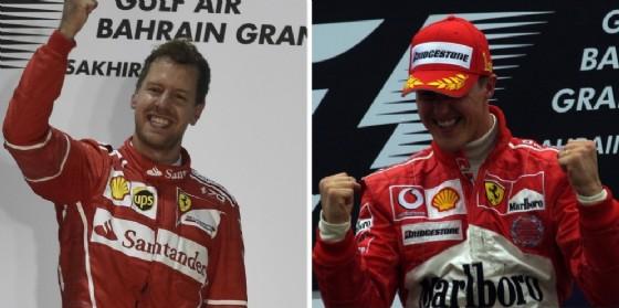 Sebastian Vettel e Michael Schumacher vincono in Bahrein a 13 anni di distanza (© Ferrari)