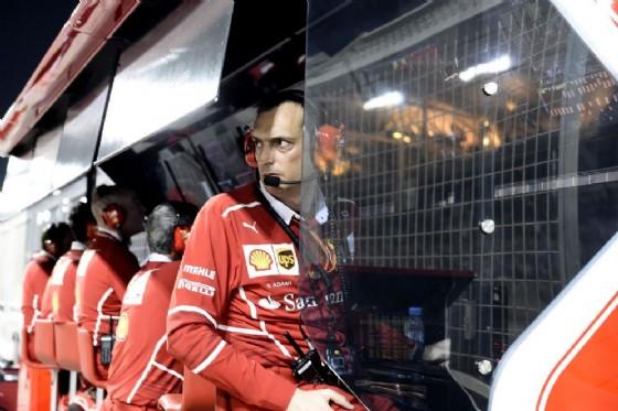 Riccardo Adami, ingegnere di pista di Vettel, al muretto