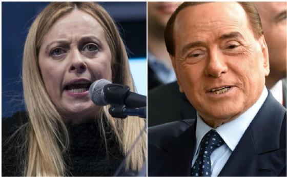 Giorgia Meloni e Silvio Berlusconi.