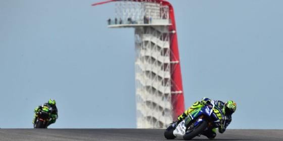 Valentino Rossi in azione un anno fa ad Austin (© Michelin)